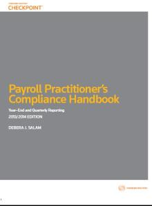 Payroll Compliance Handbook  2013-2014 front cover